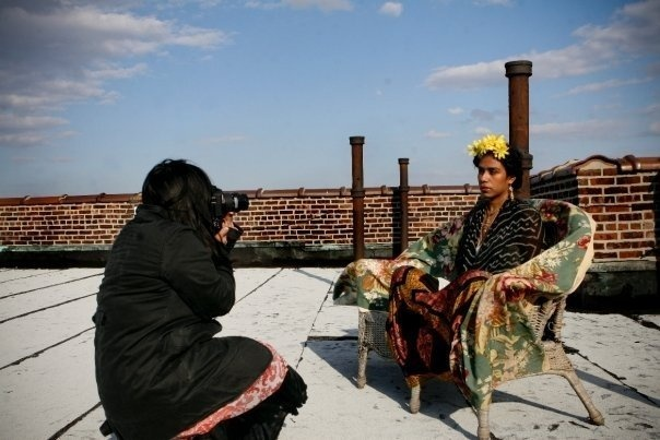 "Photo from the ""Frida of Brooklyn"" photo shoot   Photo by Alex Bershaw"
