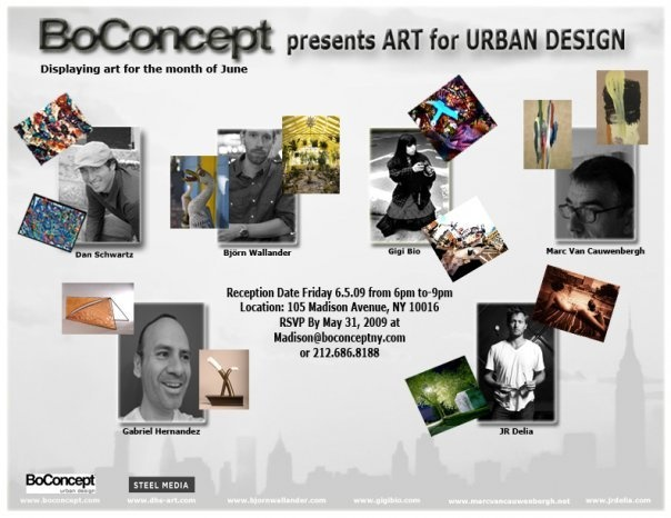 BoConcept Show Presents Art for Urban Design - June 3-31, 2009