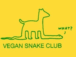 Vegan Snake Club sticker