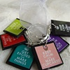 KEEP CALM Wine Glass Charm Identifier