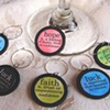 BE INSPIRED Words Wine Glass Charms