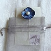 BLUE Flower Pearl Poppy Bobby Pin Hair Jewelry
