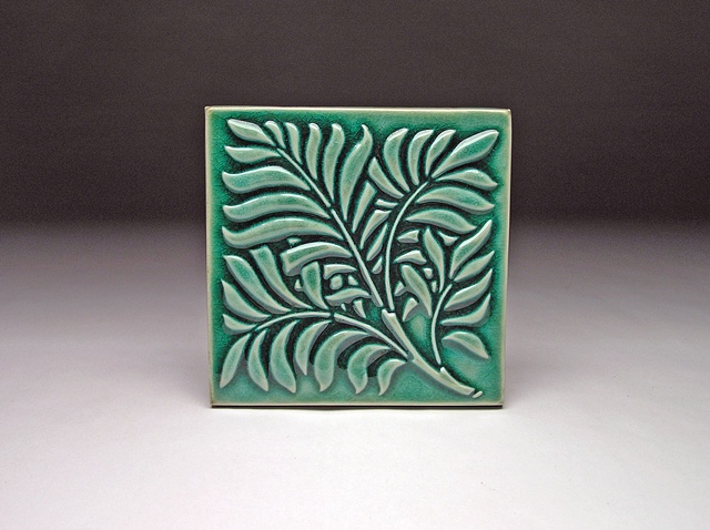 6x6 Feather leaf tile