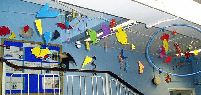 College Park School, London.  Kinetic art project with pupils