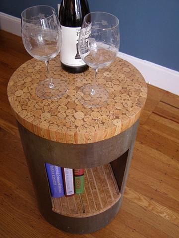 Cork Book Table