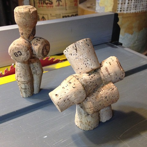 Cork Lady and Cork Gentleman