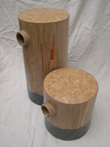 furniture, stools, wine corks, handmade