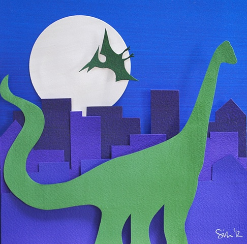 hand cut paper, paper art, paper artist, paper sculpting, paper sculpture, paper craft, dinosaur