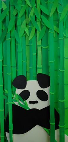 alone in the bamboo