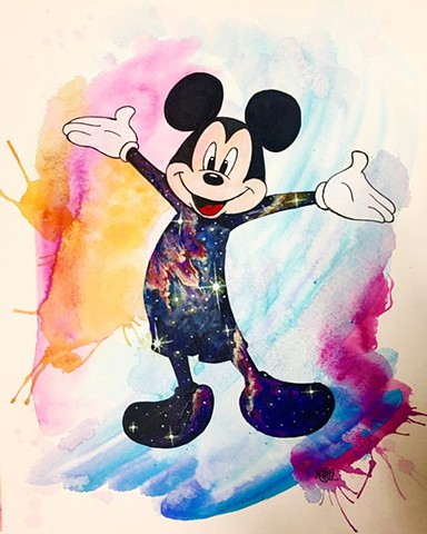 Cosmic Mickey Mouse Totem