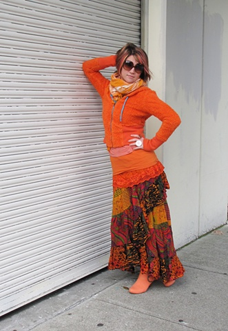 orange performance san francisco color fashion clothing dress