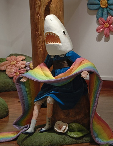 Shark Girl with Dead Rainbow (detail)