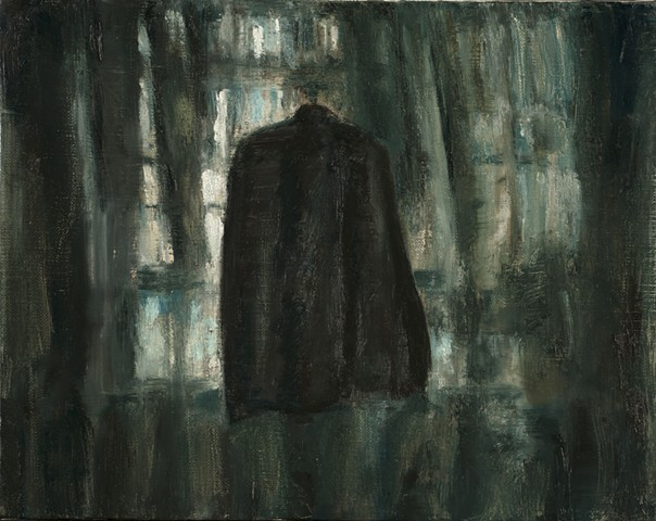 Painting, oil painting. clothing, nocturne