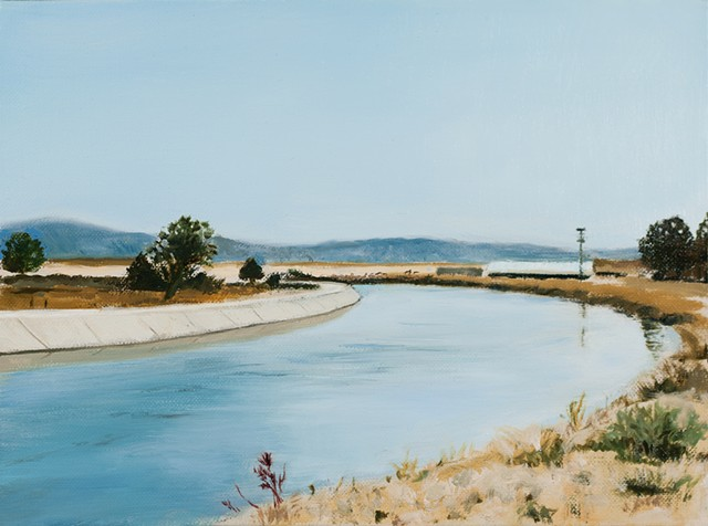 Irrigation canal western landscape