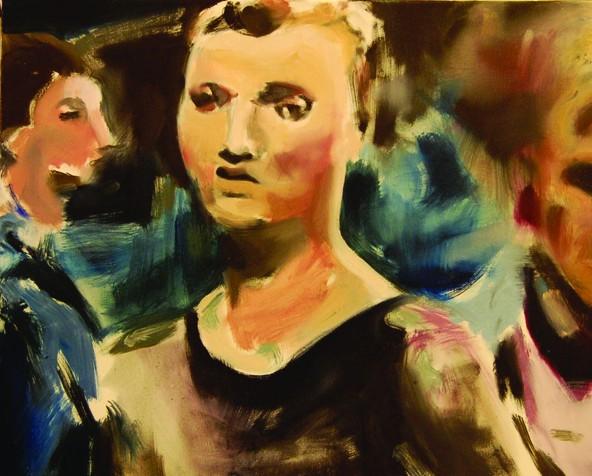 Svetlana Khorkina Gymnast russian expressionist painting sydney olympics 2000 gold medal uneven bars womens women's artistic gymnastics