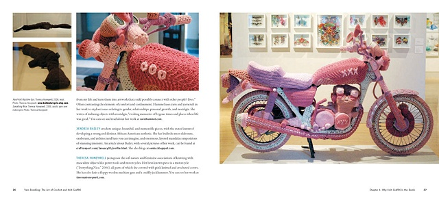 Yarn Bombing: The Art of Crochet and Knit Graffiti by Leanne Prain and Mandy Moore   My work is on pages 25-27