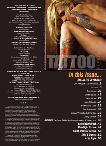 Tattoo Revue Magazine Article