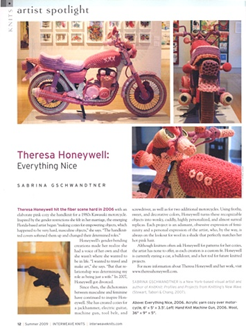 Interweave Knits Magazine Article