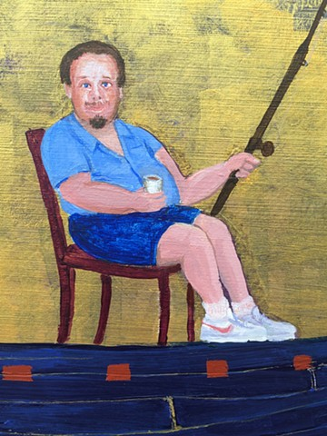 "Detail of the painting ""John Goes Fishing"""