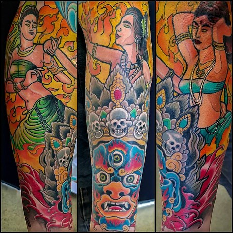 Mara and his Daughters Tattoo by Adam Sky, San Francisco, California