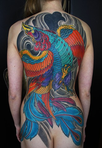 Phoenix tattoo by Adam Sky, San Francisco, California