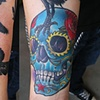 Brad&#39;s skull and ravens tattoo
