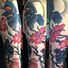 Danielle&#39;s blackbirds and blossoms tattoo