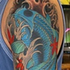 Tony&#39;s Blue Koi Tattoo