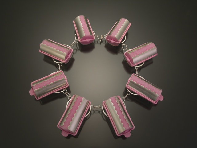 Pink Roller Necklace