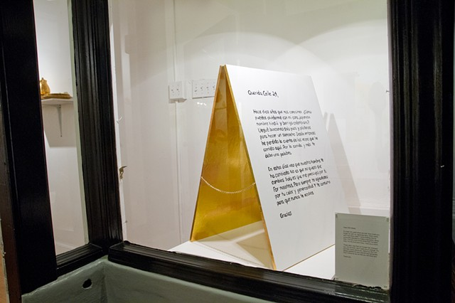 A thank you letter to 24th street - Installation at Asterisk SF Gallery