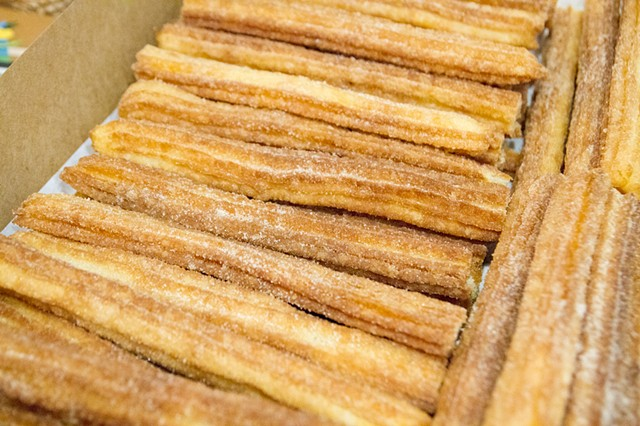The churros that inspired the installation at Asterisk SF Gallery