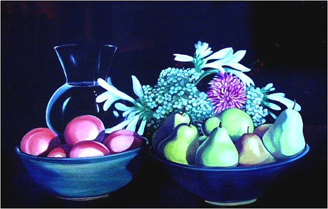 still life with two bowls