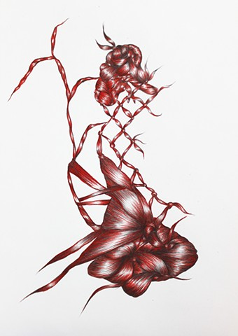 Supporting As Herself (Abstract Movement in Red 3)