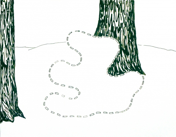 Landscape With Obscured Form
