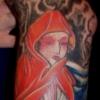 geisha red cloak