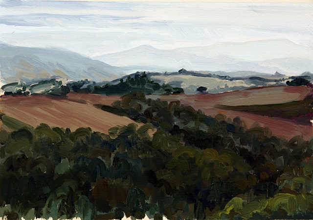 Tuscan Landscape, October ( afternoon clearing)