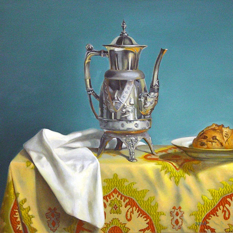 Coffee Pot and Bread