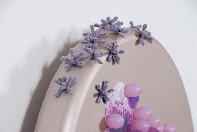 untitled lure (purple & grey), detail