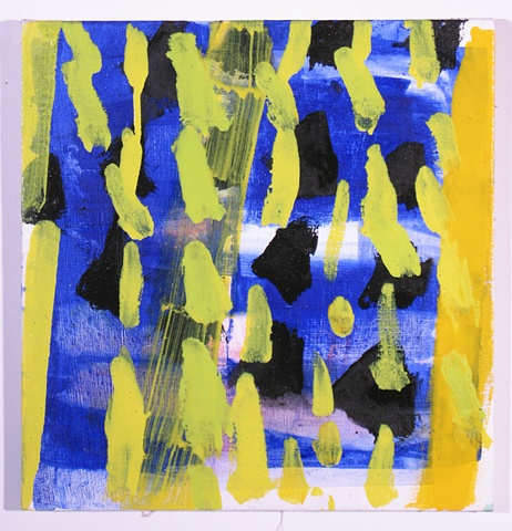 Untitled (yellow dashes)