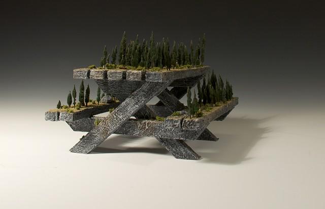 foam, picnic, table, sculpture, anhorn, nature,
