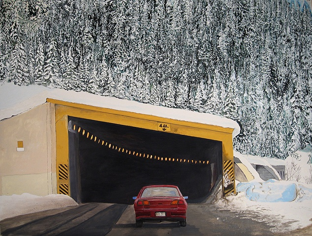 Avalanche Tunnel Rogers Pass BC