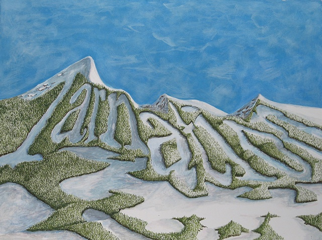 """Daniel Anhorn"", painting, landscape, clearcut, ""ski runs"""