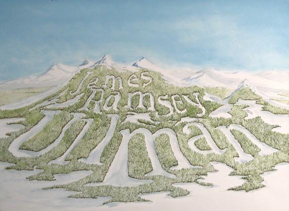 James Ramsey Ullman, Mountains, Painting, Landscape, Ski Hill, Skiing, Art, Anhorn