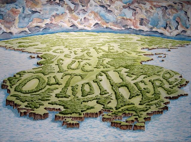 """""""Daniel Anhorn"""", painting, landscape, clearcut"""