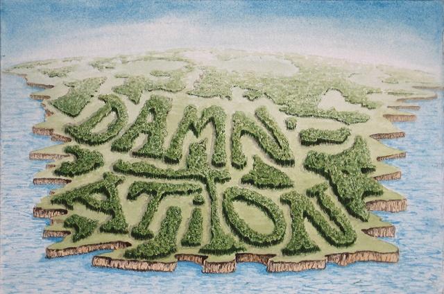 """""""Daniel Anhorn"""" painting, landscape, clearcut, """"damnation"""""""