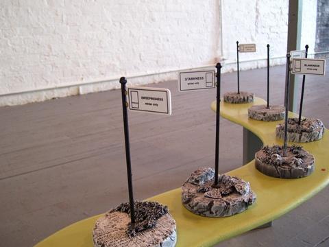 proposed Park signage maquettes (detail)