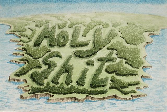 """Daniel Anhorn"" painting, landscape, clearcut, ""Holy Shit"""