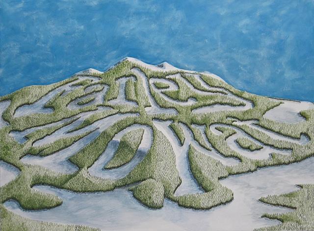 Daniel Anhorn painting landscape clearcut