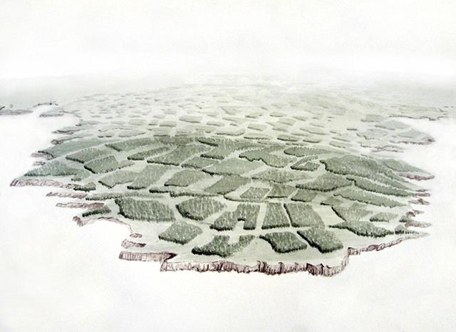 """""""Daniel Anhorn"""" painting, landscape, clearcut"""