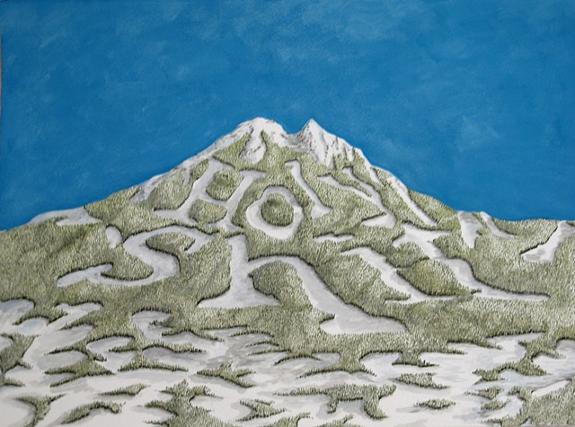 """Daniel Anhorn"", painting, landscape, clearcut, ""ski runs"", holy shit"